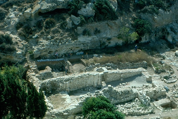 (Courtesy the Rev. Mary June Nestler) A view of an archaeological excavation in the Mount Carmel region of Israel.