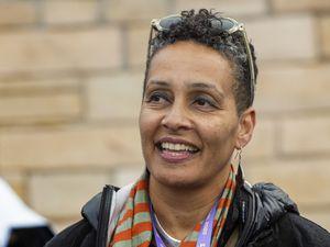 (Rick Egan | Tribune file photo) Tabitha Jackson, the director of the Sundance Film Festival, emcees at the Sundance bonfire community gathering in Park City on Jan. 30, 2020.