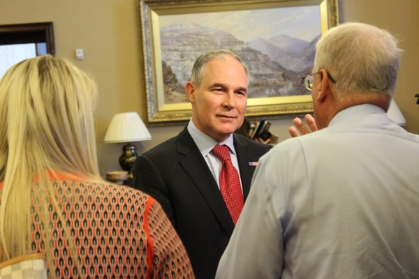  Courtesy Scott Pruitt, the EPA administrator, during a brief visit to Utah on Tuesday, July 18, 2017.