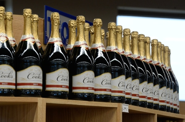 (Francisco Kjolseth | Tribune file photo) Champagne on sale at the new state liquor store in West Valley City.