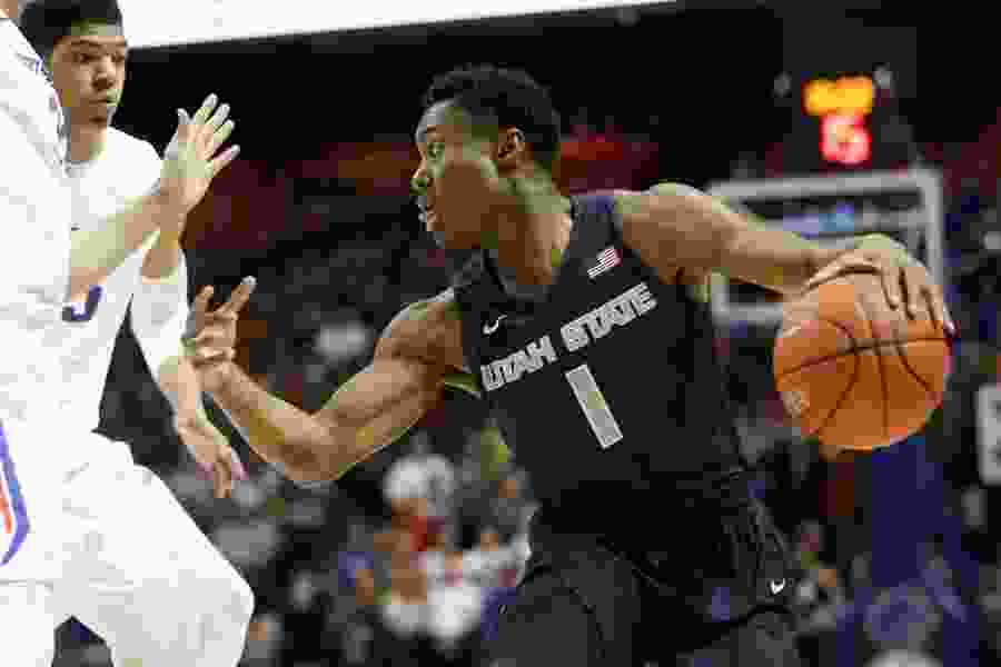 Utah State's Koby McEwen named Mountain West Player of the Week