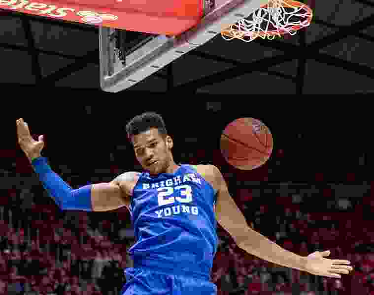 Yoeli Childs makes sensational season debut for BYU, but injury cuts him short in overtime loss to Utah