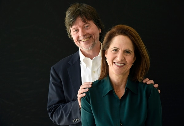 Ken Burns, left, and Lynn Novick, co-directors of the upcoming PBS documentary series