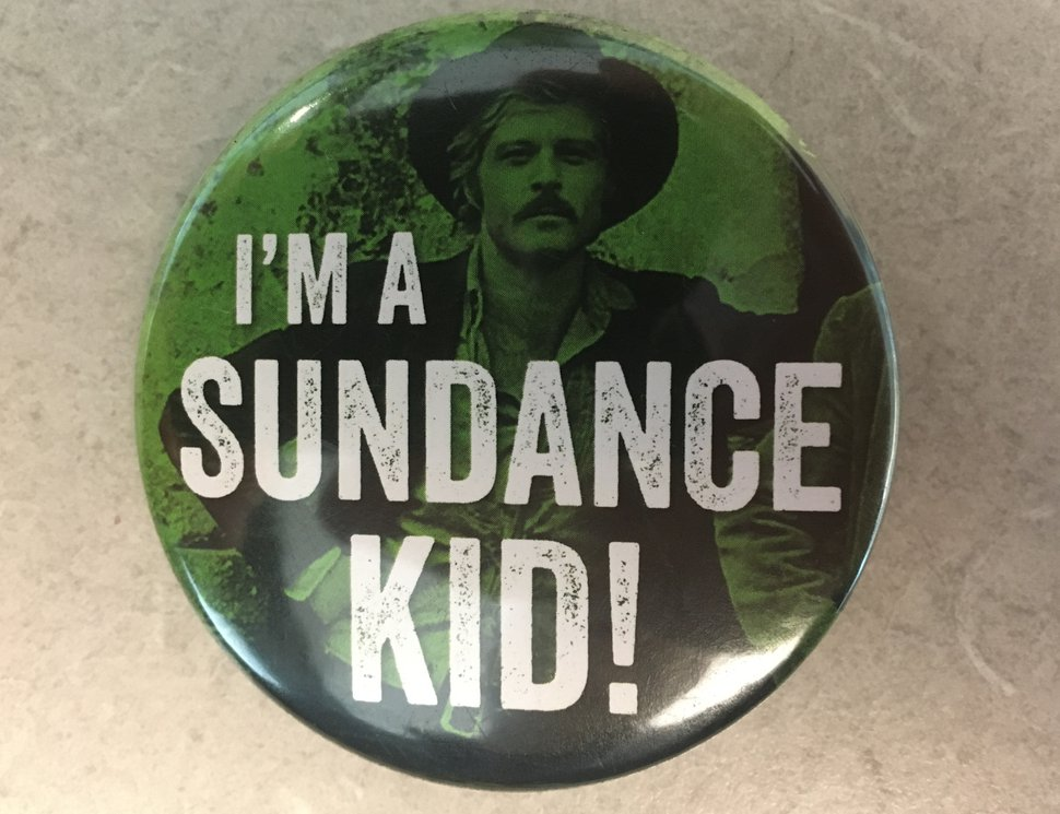 (Tribune file photo) A button, with a picture of Robert Redford from