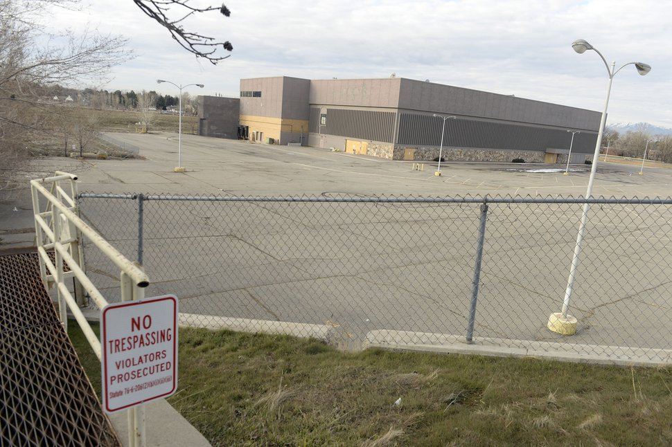 (Al Hartmann | The Salt Lake Tribune) View from the north looking south of the old Macy's building at the old Cottonwood Mall site near 4800 S. Highland Drive in Holladay on Tuesday March 13, 2018. Developers have proposed a new mixed use project on the site, including hundreds of single-family homes and apartments. The high-density construction has met with community opposition.