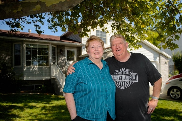 (Trent Nelson | The Salt Lake Tribune) Pat Hardesty, 66, and husband Bill, 61, of West Valley City are getting ready to move into Summit Vista, a first-of-its-kind