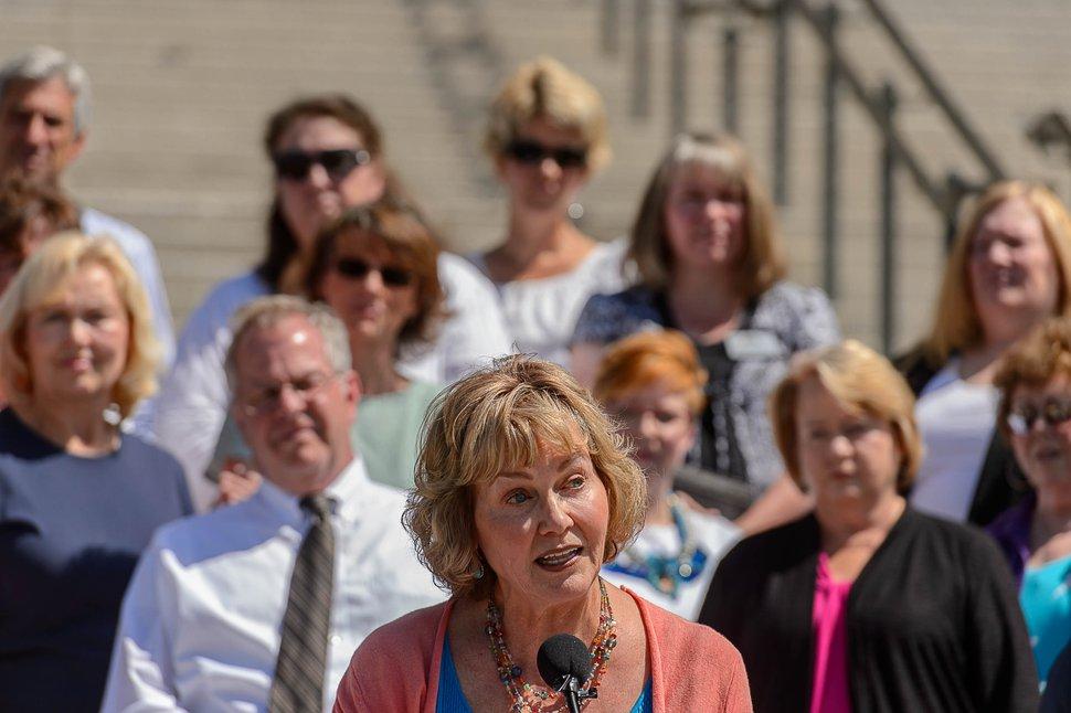 (Trent Nelson | Tribune file photo) Sheryl Allen speaks at a news conference in Salt Lake City, June 27, 2017.