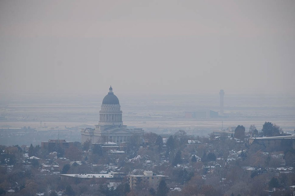 (Trent Nelson | Tribune file photo) The state Capitol in Salt Lake City on a hazy day, Dec. 6, 2018.