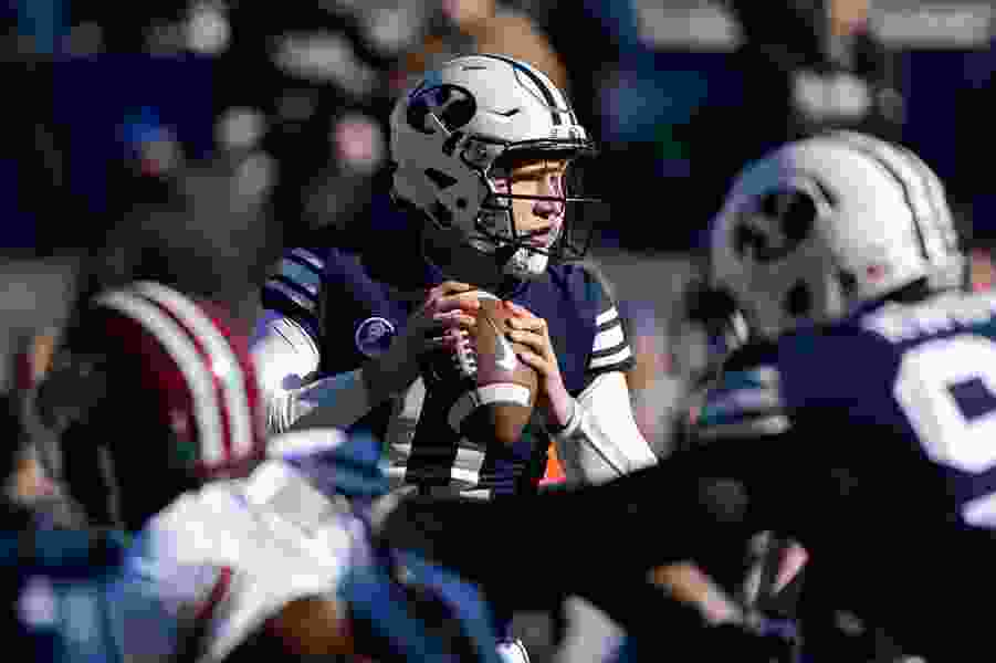 BYU assistant coach Ed Lamb says soph Joe Critchlow is strong candidate to be starting QB; junior Beau Hoge may switch positions