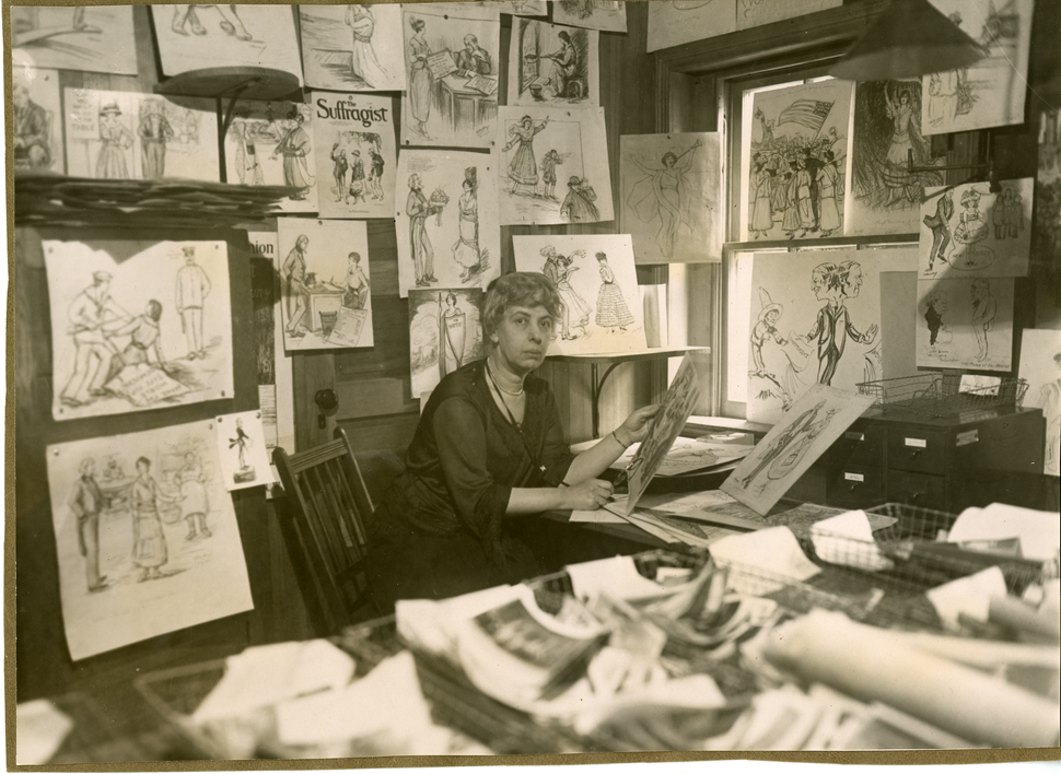 (Courtesy of National Woman's Party) Nina Allender drew political cartoons for The Suffragist in the early 20th Century during the woman suffrage movement.