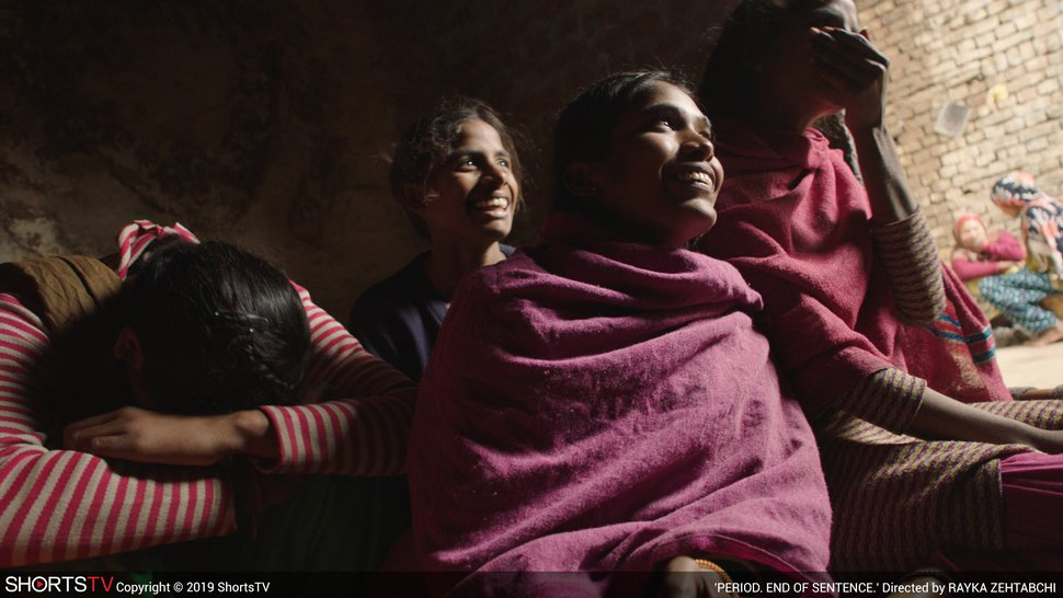 (Photo courtesy Shorts TV) Women in India find a chance to be self-sufficient, in director Rayka Zehtabchi's documentary short