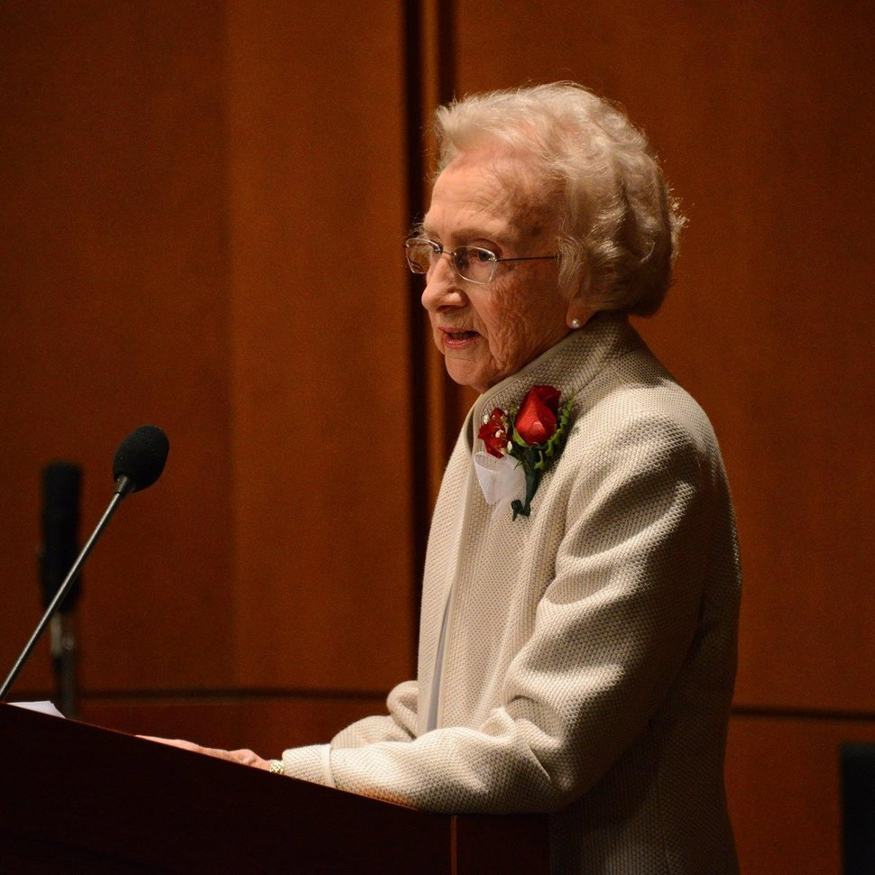 (Photo courtesy of Michael Clyde) Aileen Clyde, former second counselor in the general Relief Society presidency of The Church of Jesus Christ of Latter-day Saints.