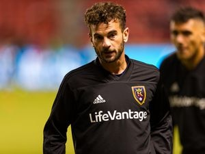 (Alex Gallivan | Special to the Tribune) Real Salt Lake midfielder Kyle Beckerman (5 ) during warmup for the Western Conference semifinals matchup against the Sporting Kansas City in 2018. Beckerman, who retired at the end of the 2020 season, was named the new men's soccer coach at Utah Valley University on Monday, April 12, 2021.