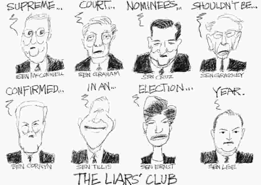 Bagley Cartoon: The Liars' Club