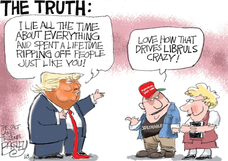 This Pat Bagley cartoon appears in The Salt Lake Tribune on Sunday, May 6, 2018.
