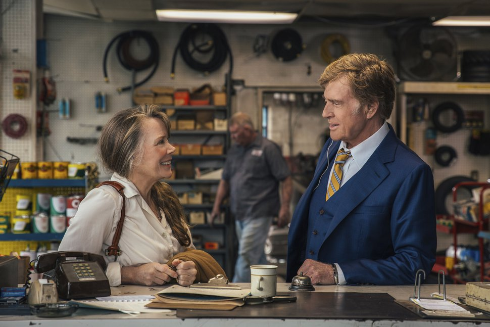 Sissy Spacek, left, and Robert Redford in a scene from