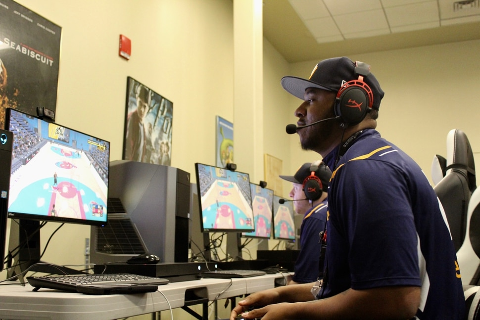 (Christopher Kamrani | The Salt Lake Tribune) Shaka Browne, also known as Yeah I Compete, at a Jazz Gaming team practice on Thursday, May 17, 2018, at the Valley Fair Mall in West Valley City.