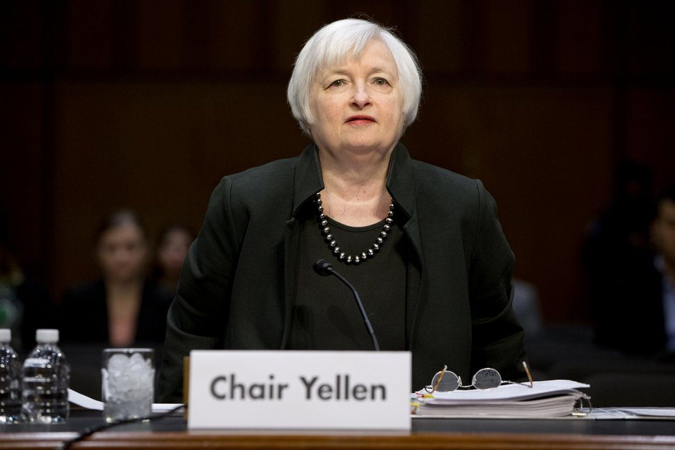 Federal Reserve Chair Janet Yellen arrives on Capitol Hill in Washington, Thursday, Dec. 3, 2015, to testify before the Joint Economic Committee. Yellen said that economic conditions are falling into place for policymakers to raise interest rates when they meet in two weeks , as long as there are no major shocks that undermine confidence. (AP Photo/Jacquelyn Martin)