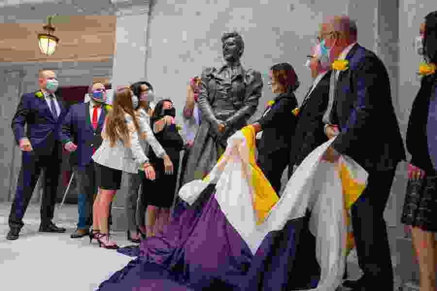 Utah leaders unveil statue of Martha Hughes Cannon, nation's first female state senator