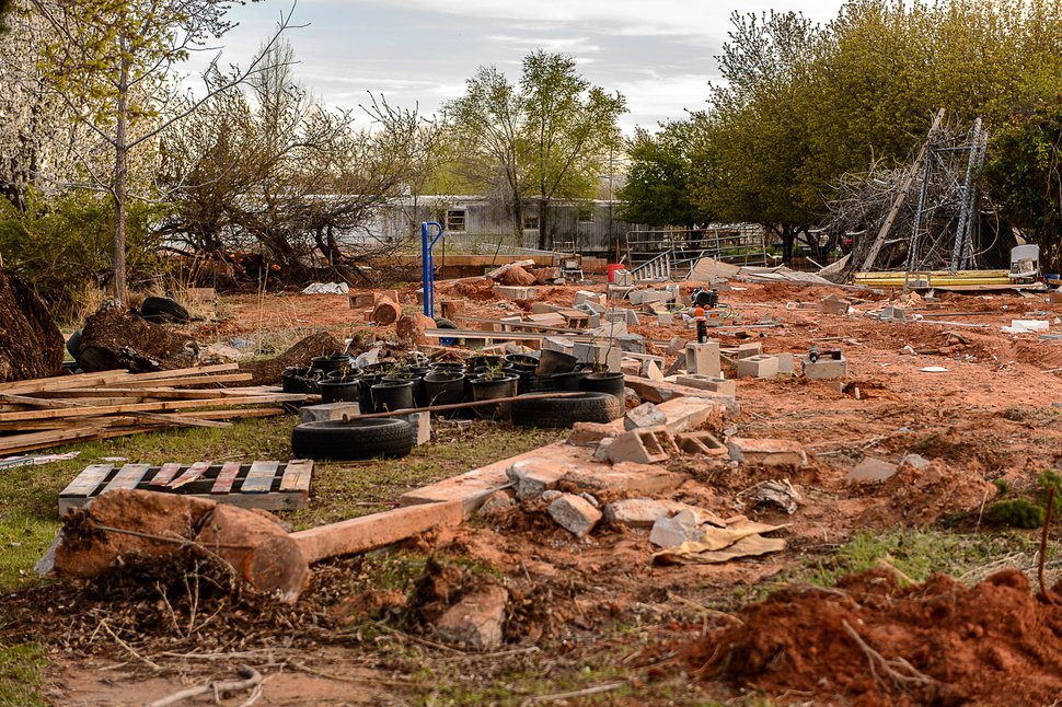 Trent Nelson | The Salt Lake Tribune A lot in Hildale, vacated by FLDS members as part of an eviction from UEP trust property, Wednesday April 5, 2017. Many FLDS members have refused to cooperate with the state-controlled land trust and are now facing eviction.