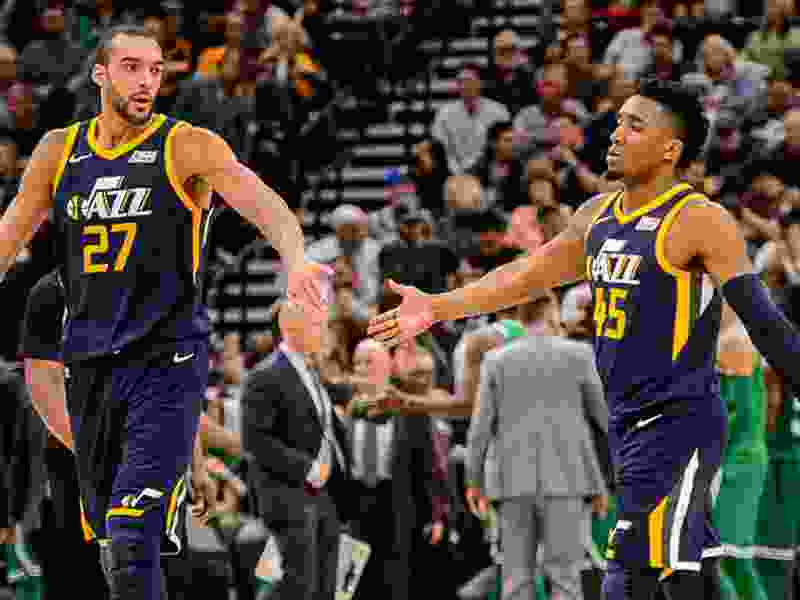 The Utah Jazz first-half awards, with MVP, LVP, Most Improved, Dunk of the Half, Shot of the Half, and more