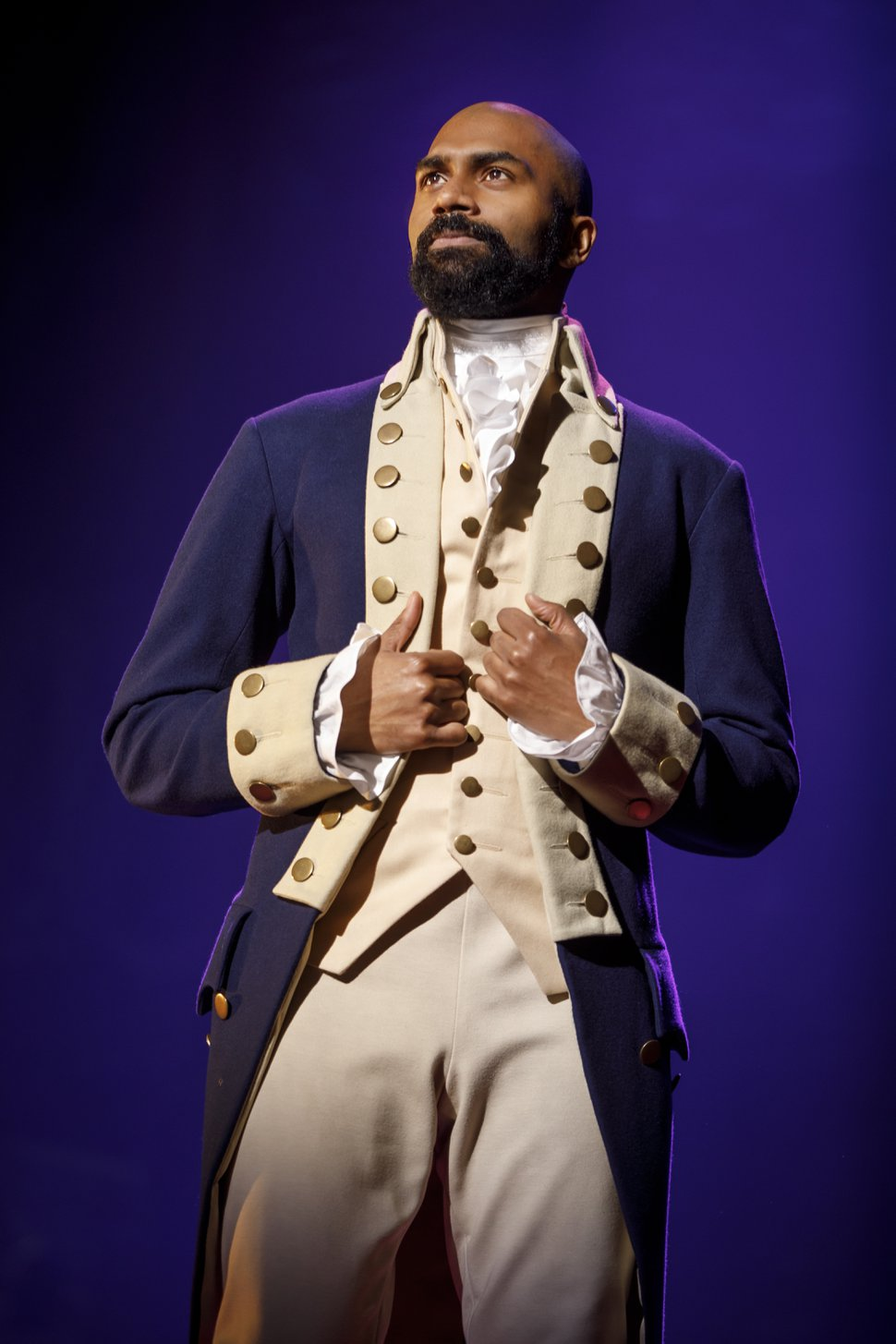 (Courtesy photograph by Joan Marcus) Nik Walker as Aaron Burr on the Philip tour of the musical