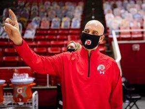 New University of Utah head coach Craig Smith tours the Huntsman Center on March 27, 2021.
