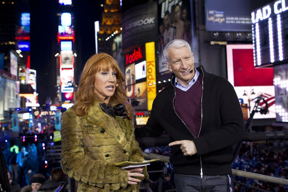| Courtesy CNN CNN fired Kathy Griffin, bringing an end to her New Year's Eve gig with Anderson Cooper.