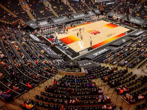 (Trent Nelson  |  The Salt Lake Tribune) A limited number of fans watch the Utah Jazz host the Minnesota Timberwolves, NBA basketball at Vivint Smart Home Arena in Salt Lake City on Saturday, Dec. 26, 2020.