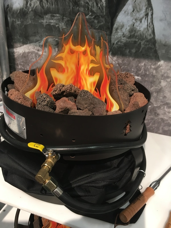 Tom Wharton | Special to The Tribune Gas fire pits from Cache County company Camp Chef run on propane and are a good alternative on public lands when campfires are prohibited during drought or fire seasons.