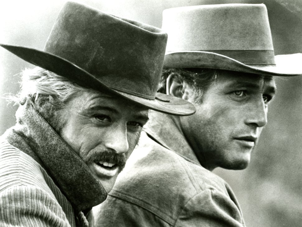 (20th Century Fox | AP file photo) In in this 1969 file photo, actors Robert Redford, left, as the Sundance Kid and Paul Newman as Butch Cassidy appear in this scene from the film ''Butch Cassidy and the Sundance Kid.''