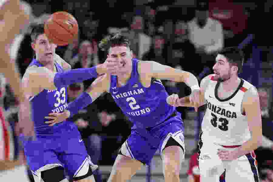 No. 1 Gonzaga pulls away from BYU for 92-69 victory