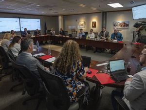 (Rick Egan | The Salt Lake Tribune)  The Utah State Board of Education listens to comments during a public hearing on Thursday, July 22, 2021. The board on Friday declined to pass a resolution on masking in schools.