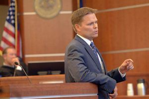 (Al Hartmann     Tribune File Photo)  Nathan Evershed is an assistant Salt Lake County district attorney. He announced Tuesday that he is running for election for district attorney, challenging his current boss, Sim Gill.
