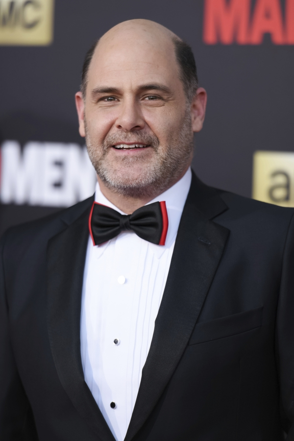 FILE - In this March 25, 2015 file photo, Matthew Weiner arrives at The Black And Red Ball In Celebration Of The Final Seven Episodes Of