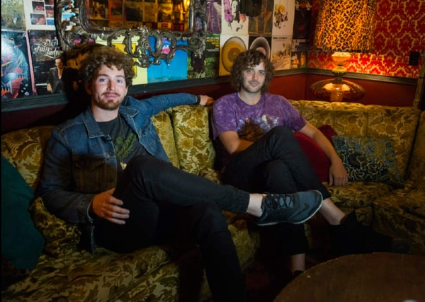 Brandon Robbins and Mark Garbett, of The Moth & The Flame, backstage at Velour Live Music Gallery, Saturday, June 24, 2017.