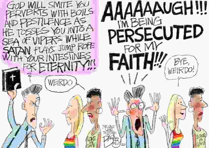 Bagley Cartoon: The Persecution Game