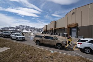 (Francisco Kjolseth  | The Salt Lake Tribune) In Park City, people lined up for COVID-19 vaccine on March 18, 2021, at Utah Film Studios. While Park City consistently has had the highest vaccination rates in the state, it — until recently — still had one of the worst infection rates in Utah.