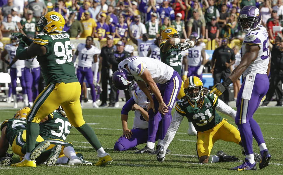 bd68baaa60 NFL roundup  Vikings and Packers battle to 29-29 tie - The Salt Lake ...
