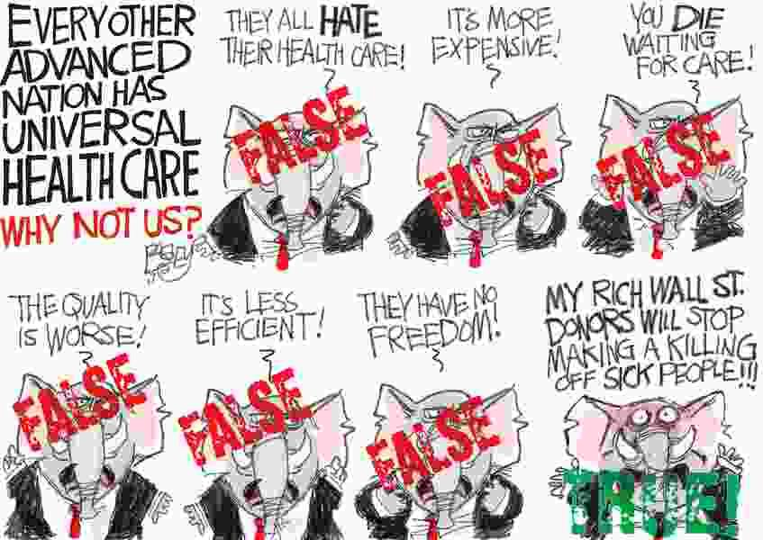 Bagley Cartoon: Universal Care Canards