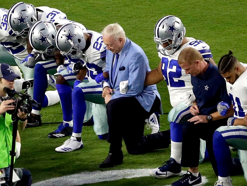 Jerry Jones: Cowboys players who kneel during anthem won't play