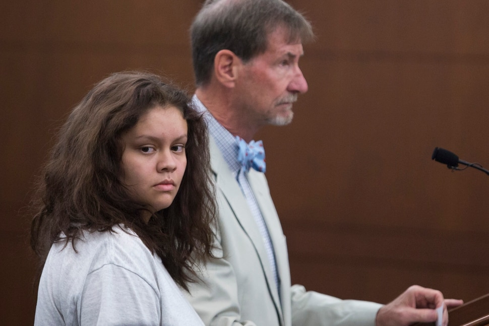Marilee Gardner, 16, of Layton, appeared in Judge Brent West's courtroom with her attorney, Walter Bugden, at the Ogden 2nd District Court in Ogden on Wednesday, July 6, 2016. Gardner is charged with two counts of first degree murder. On June 30, 2016 she crashed an SUV, allegedly stolen from her parents, into a car at 6000 South 3500 West in Roy. Both Tyler Christianson, 19, of Ogden, and Maddison Haan, 20, of West Point, were in the car struck by Gardner. They did not survive.