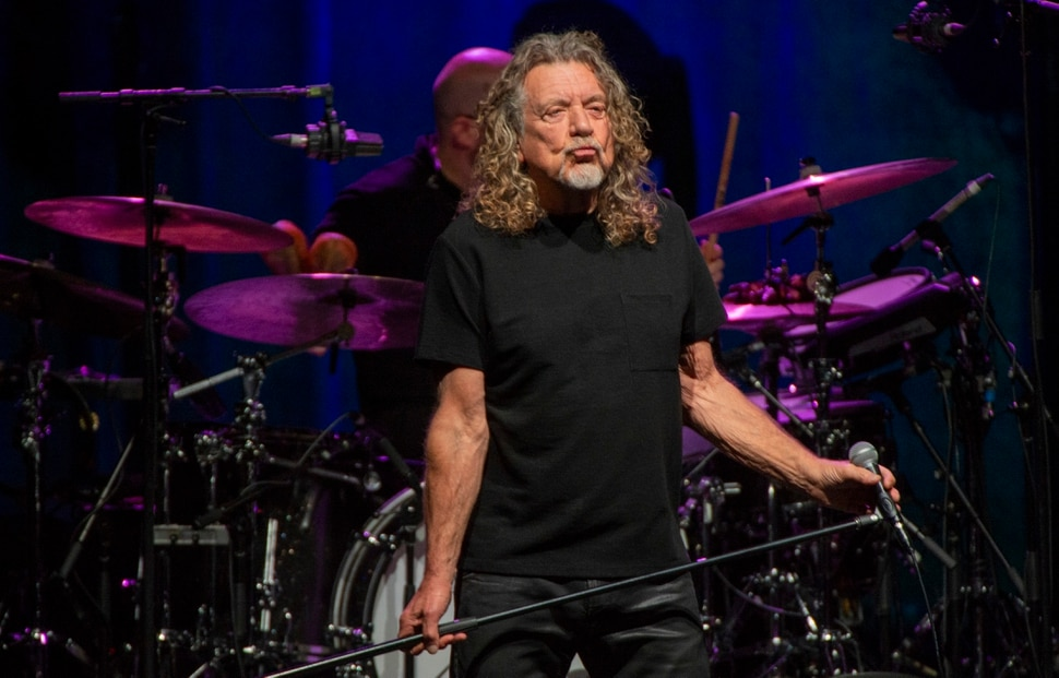 (Rick Egan | The Salt Lake Tribune) Former Led Zeppelin singer Robert Plant performs with his backing band, the Sensational Space Shifters, at the Eccles Theater, Tuesday, Oct. 1, 2019.