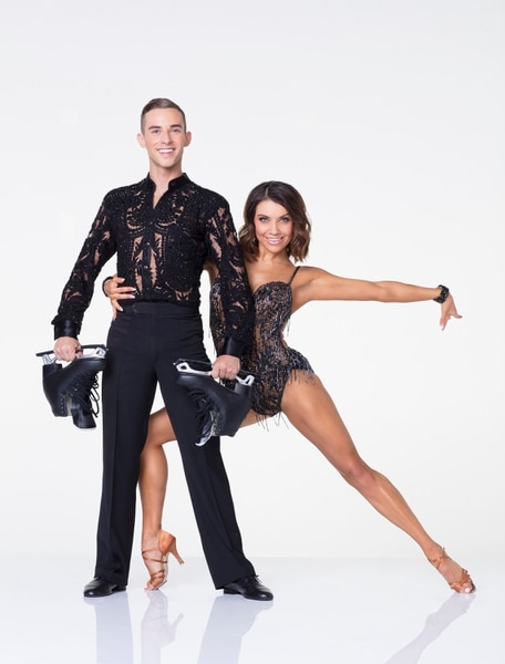 """(Photo: Craig Sjodin/ABC) Olympic figure skatier Adam Rippon is partnered with Utah native Jenna Johnson on """"Dancing with the Stars."""""""