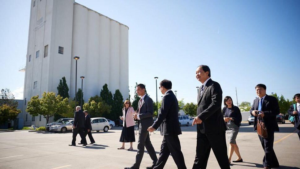 (Photo Courtesy of The Church of Jesus Christ of Latter-day Saints) A delegation from Vietnam's Committee for Religious Affairs tours Welfare Square in Salt Lake City