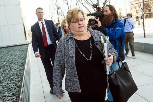 Chris Detrick | The Salt Lake Tribune Lyle Jeffs' public defender Kathryn Nester walks from the Federal Courthouse in Salt Lake City Wednesday February 24, 2016.