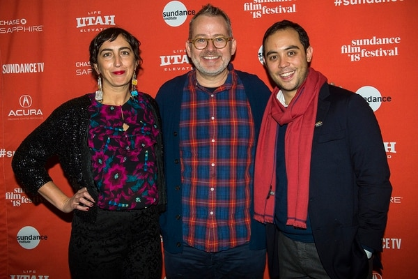(Chris Detrick | The Salt Lake Tribune) Producer Caryn Capotosto, director Morgan Neville and producer Nicholas Ma before the screening of