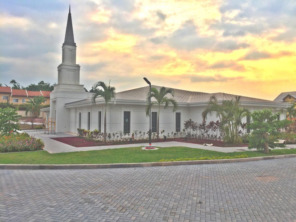 (Courtesy photo of The Church of Jesus Christ of Latter-day Saints) Kinshasa Democratic Republic of the Congo Temple.
