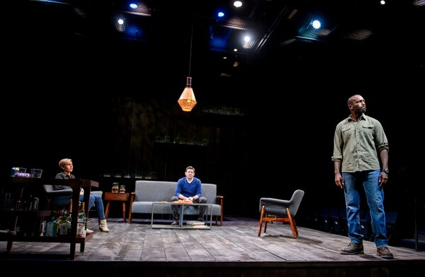 (Steve Griffin | The Salt Lake Tribune) Tessa Auberjonois, as Jodie, Brian Vaughn, as Brad, and Corey Jones as Tate, during the last preview rehearsal of a world-premiere of Neil LaBute's