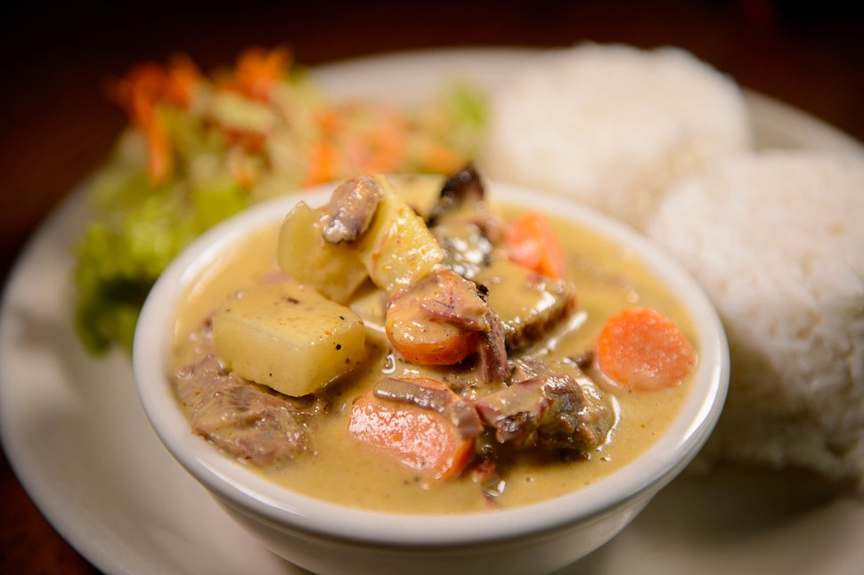 (Trent Nelson | The Salt Lake Tribune) Yellow curry with brisket at 565 Firehouse in Salt Lake City.